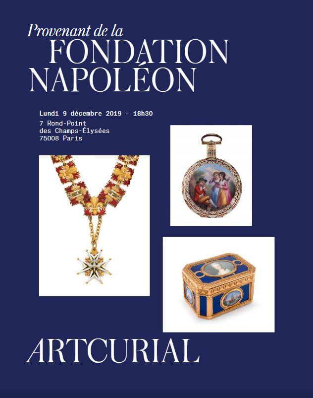 Vente Provenant de la Fondation Napoléon chez Artcurial : 271 lots