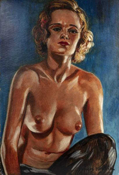 Francis PICABIA  (Paris 1879 - 1953)  - Nue de face  - Vers 1942 - 1943  - Technique [...]