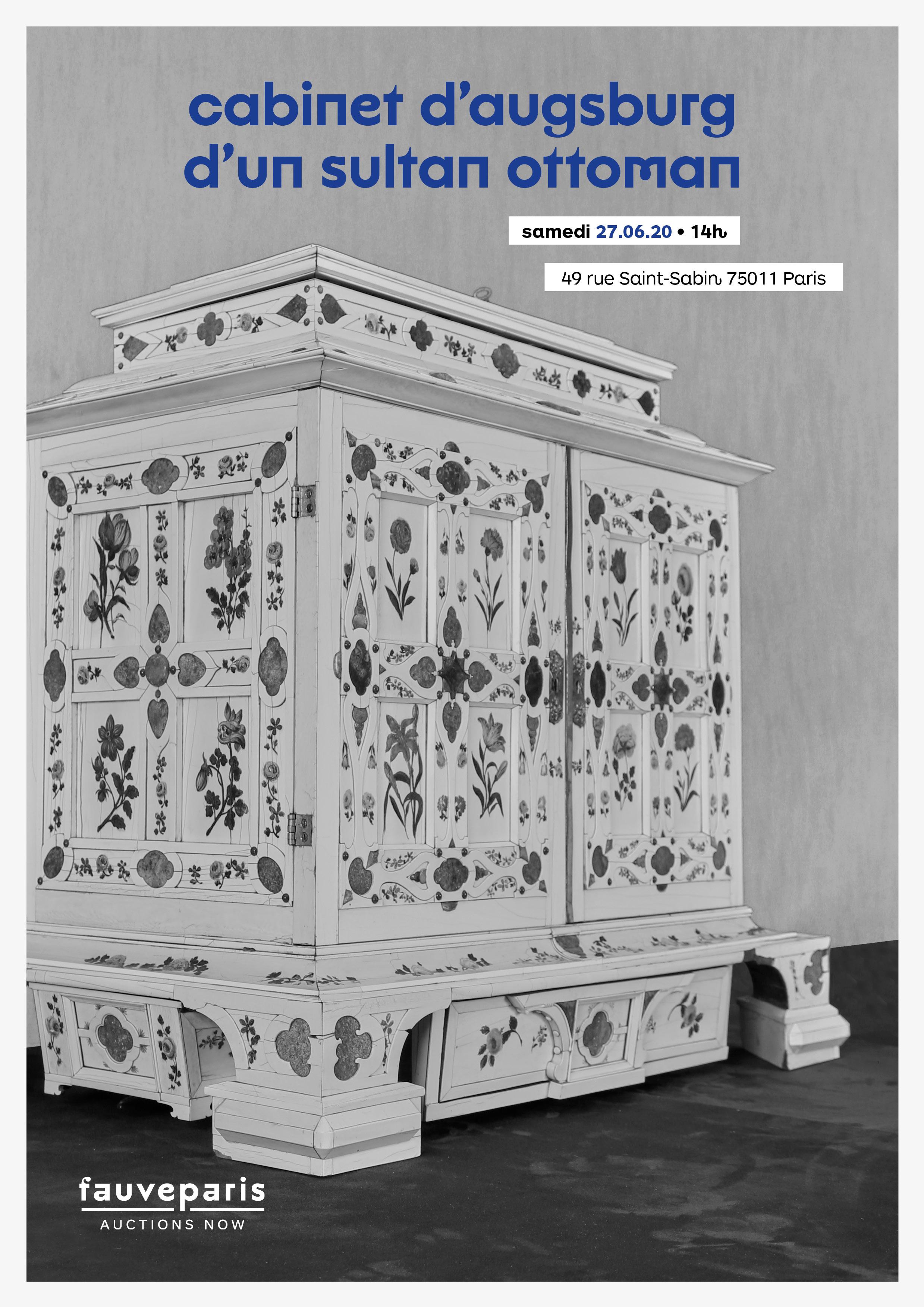 Vente Cabinet d'Augsburg d'un Sultan Ottoman • Une Vente un Lot chez FauveParis : 1 lots
