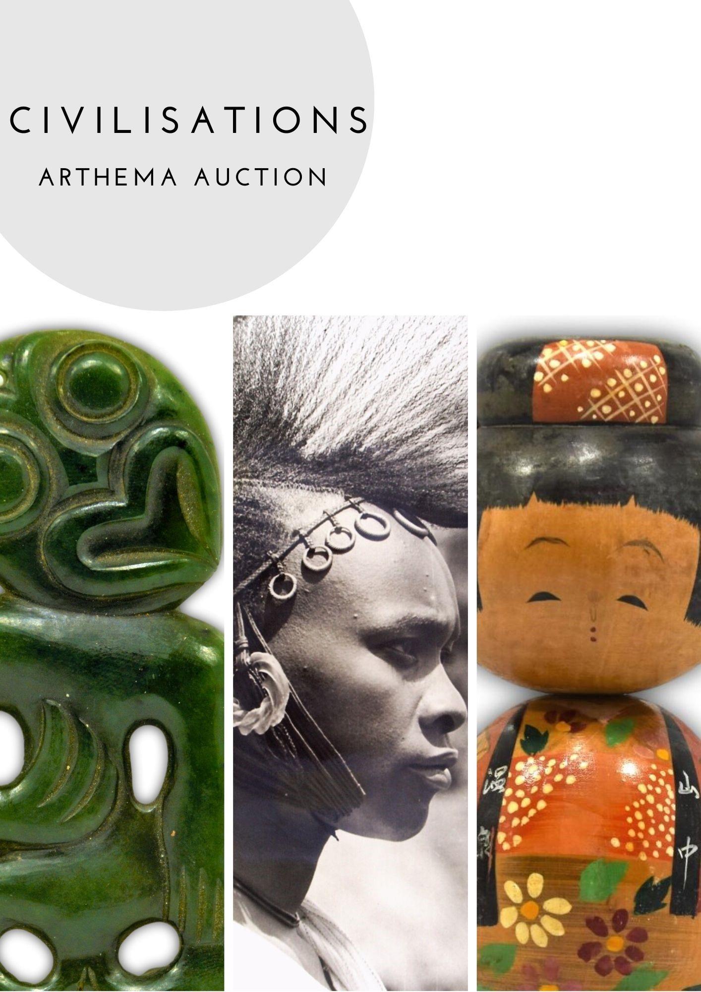 Vente Civilisations : Asie, Amérique, Afrique, Australie et Océanie  chez Arthema Auction : 232 lots