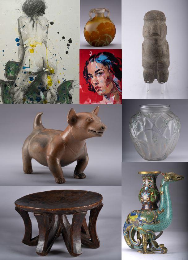 Vente Art Contemporain, Street Art, Art Nouveau, Art Précolombien et Art Tribal chez Stanley's Auction : 166 lots