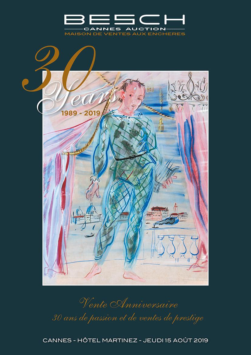 Vente Des Impressionnistes aux Contemporains - Tableaux & Mobilier Art Déco - Verreries 1900 chez Besch Cannes Auction : 372 lots
