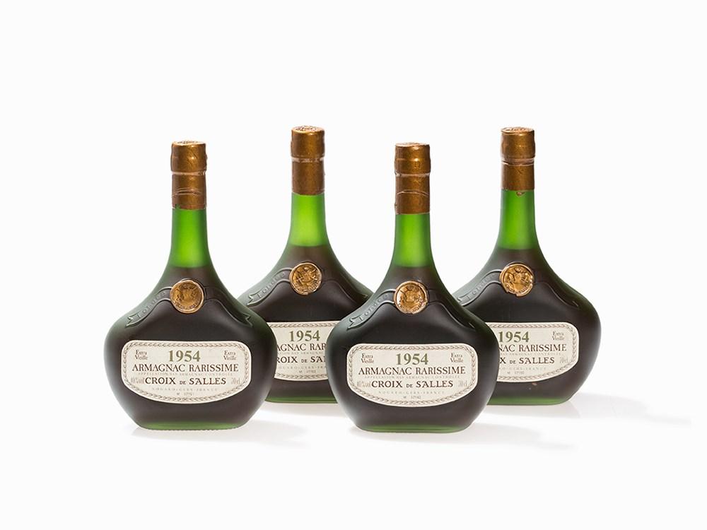 4 Bottles 1954 Croix De Salles Armagnac Rarissime France Vins Rares Spiritueux At Auctionata Paddle8 AG
