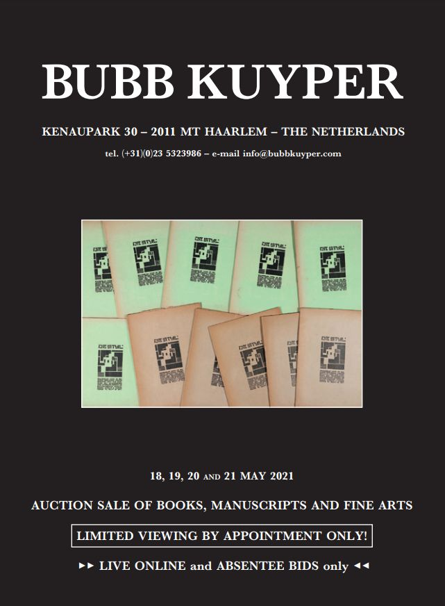 Vente Livres: Livres Bibliophiles et Livres Ilustrés chez Bubb Kuyper Auctions : 615 lots