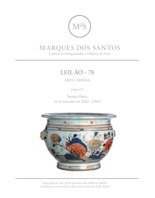 Vente Fine Chinese Antiques & Works of Art chez Marques Dos Santos  : 294 lots