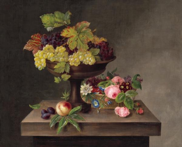 Hanne Hellesen: Still life. Signed and dated Hanne Hellesen 1833. Oil on canvas. 68 x [...]