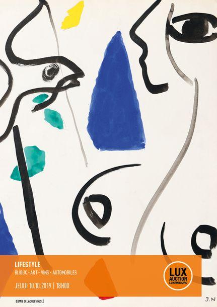 Vente Lifestyle Auction - Bijoux, Arts Décoratifs du XXème et Design, Vins et Automobiles chez Lux-Auction : 318 lots