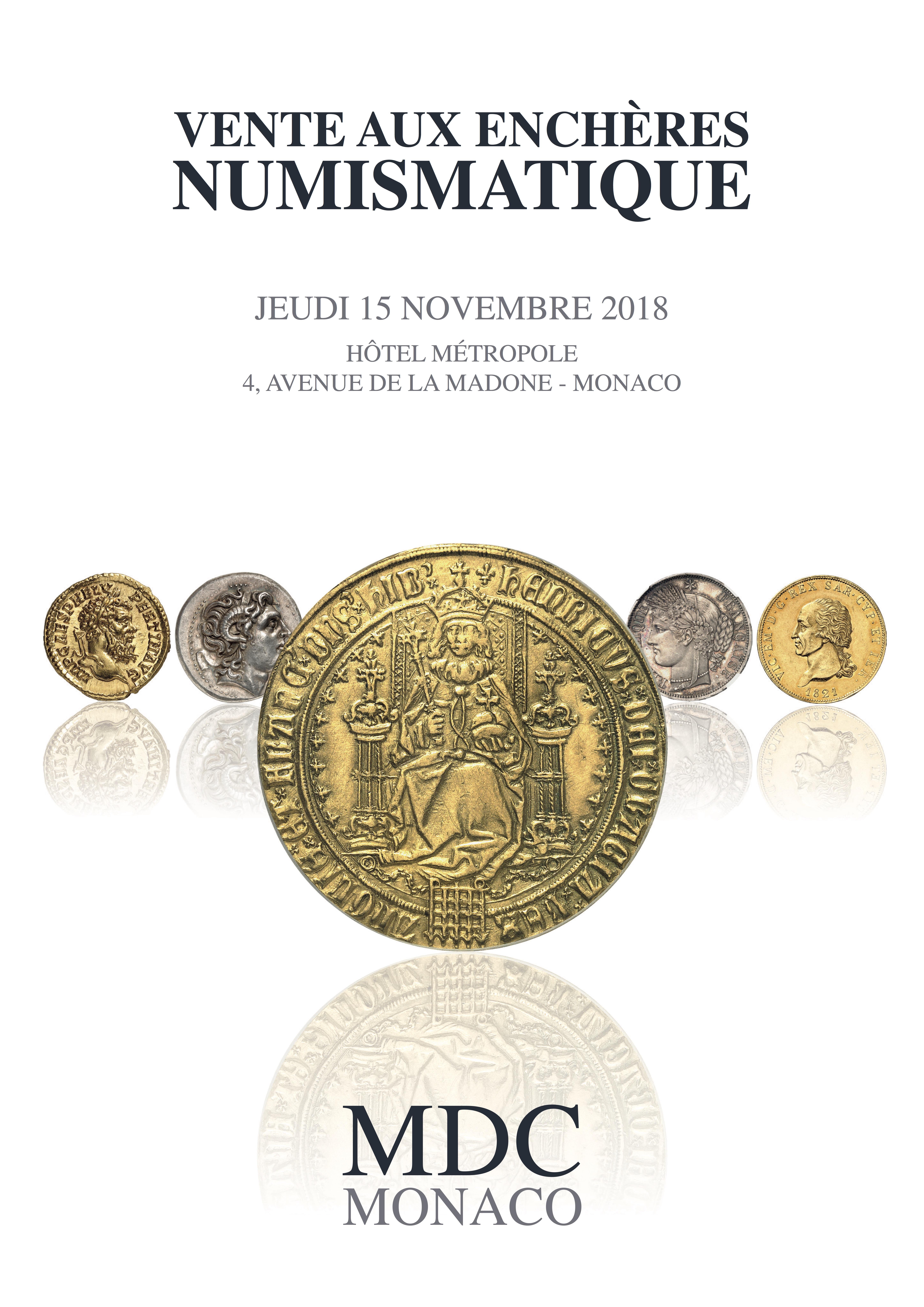 Vente Numismatique n°4 - Monnaies de Collection, Antiques et du Monde chez MDC Monnaies de Collection : 1205 lots