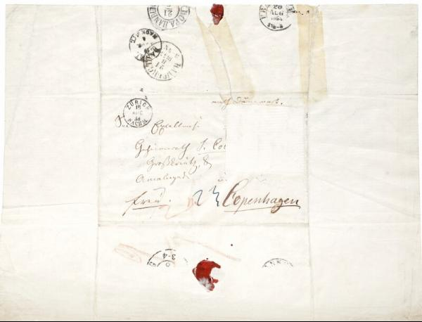 Hans Christian Andersen: Autograph letter signed by both Edgar Collin and Hans [...]