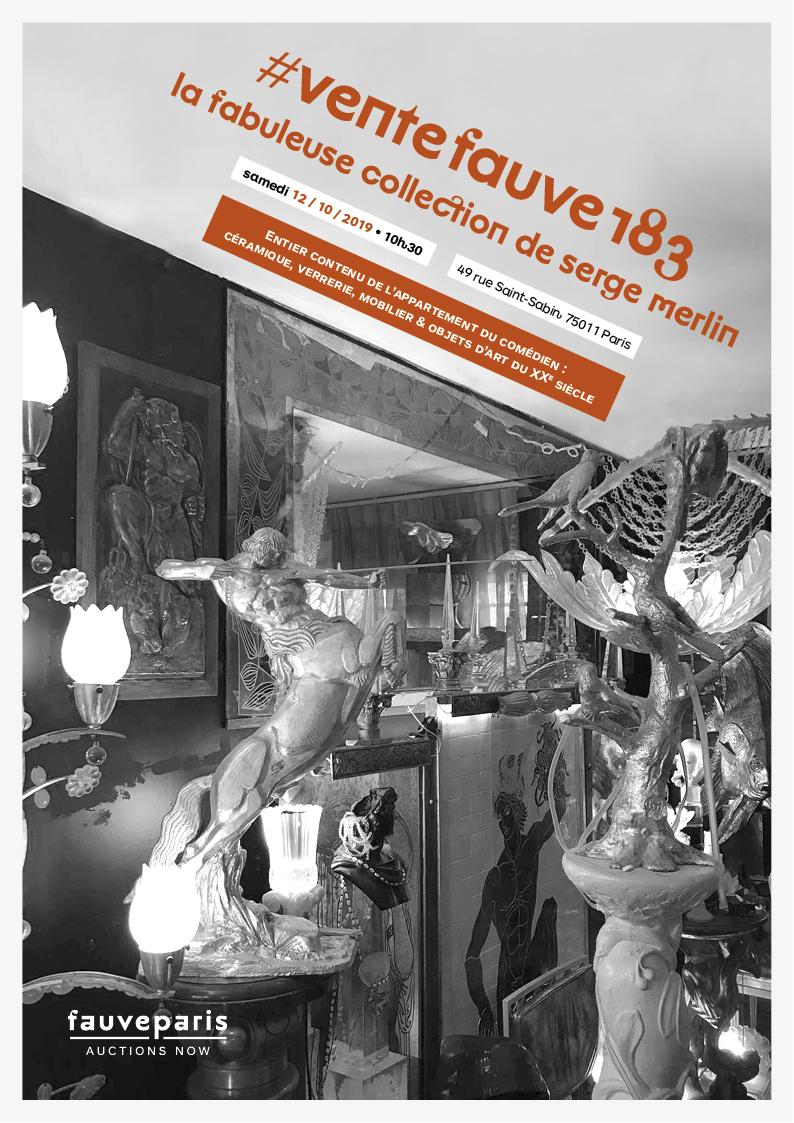 Vente #VenteFauve183 • La Fabuleuse Collection de Serge Merlin : Entier contenu de l'appartement du comédien : céramique... chez FauveParis : 153 lots