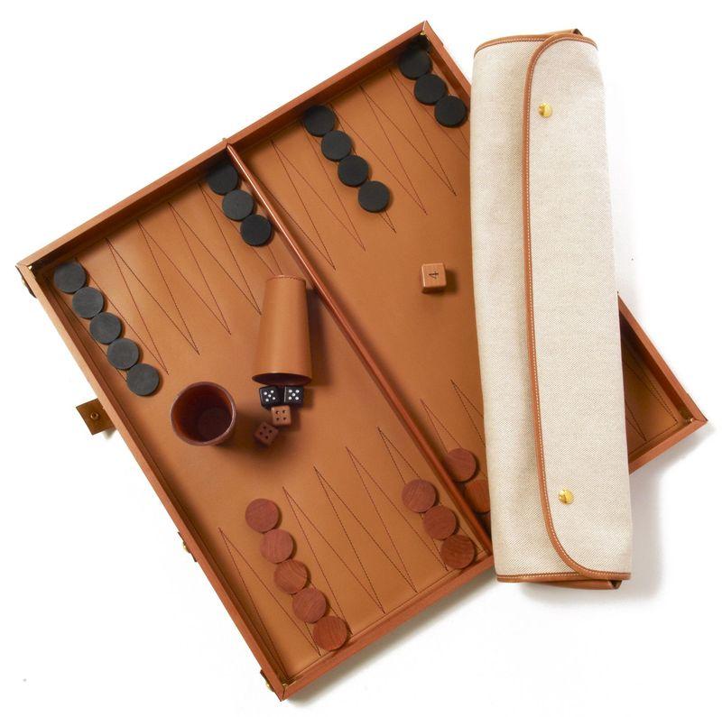 HERMES Paris made in france - Très beau jeu de Backgammon, Hermès
