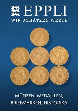 Vente EPPLI MÜNZAUKTION chez Eppli Münzhandel & Auktionen : 301 lots