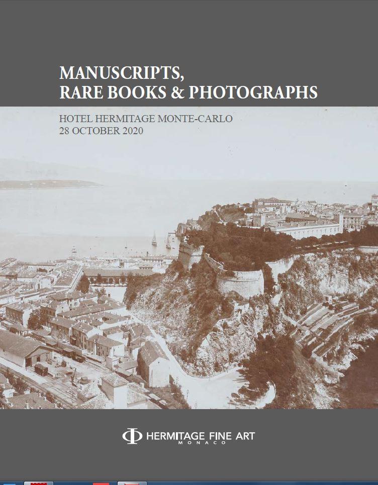 Vente Manuscripts, Photographs & Rare books chez Hermitage Fine Art : 115 lots