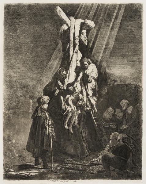 Rembrandt van Rijn (1606-1669) The Descent from the Cross: the Second Plate