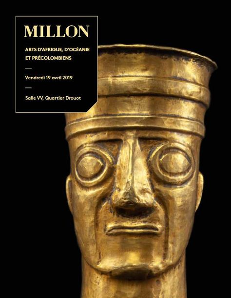 Vente Arts Africains, Océaniens et Pré-Colombiens chez Millon et Associés Paris : 338 lots