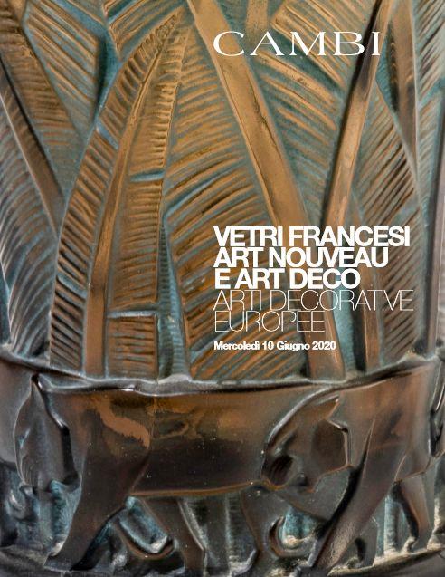 Vente Verrerie Art Nouveau et Art Déco Française et Arts Décoratifs (Milano) chez Cambi Casa d'Aste : 193 lots