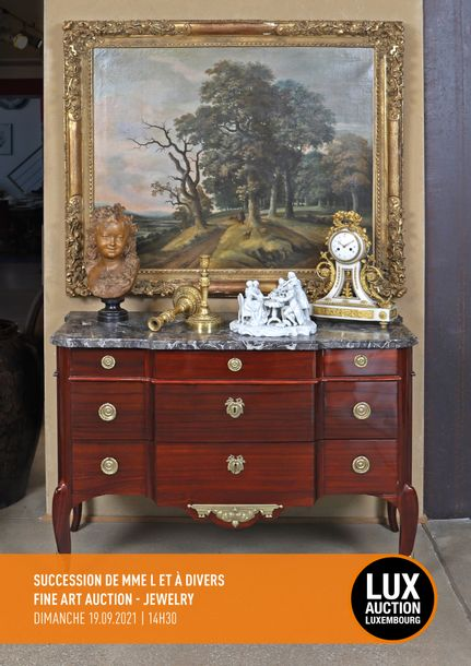 Vente SUCCESSION DE MME L & À DIVERS FINE ART AUCTION JEWELRY chez Lux-Auction : 315 lots