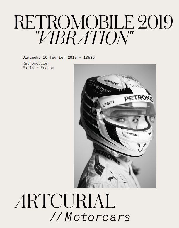 Vente Rétromobile 2019  « Vibration » chez Artcurial : 368 lots