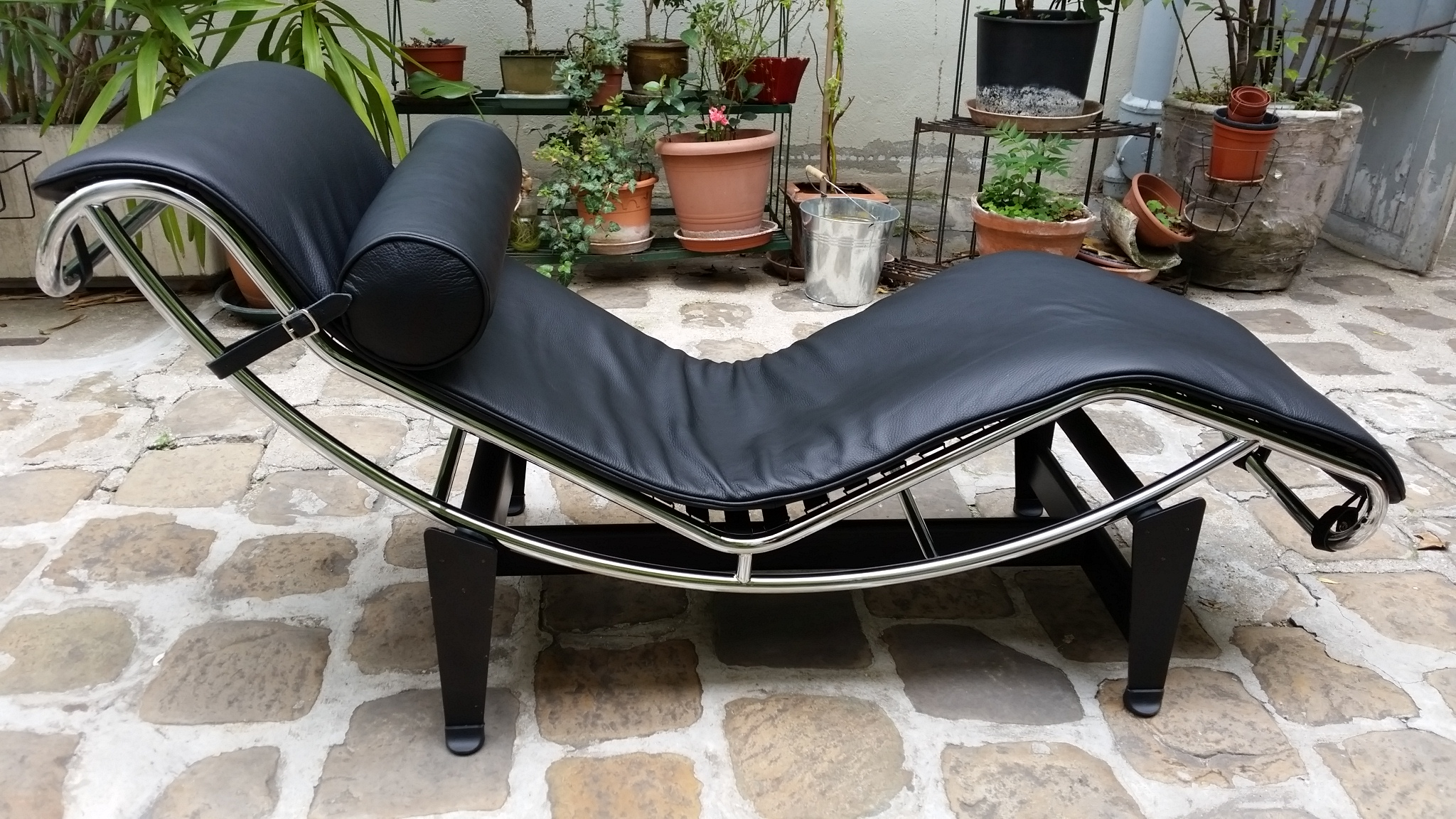 metal lounge of new brown chaise light durable leather picture chair with