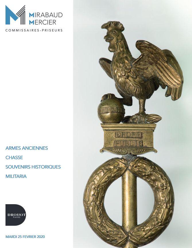 Vente Armes Anciennes - Chasse - Fusils - Souvenirs Historiques - Militaria - Chevalerie chez Mirabaud-Mercier  : 301 lots