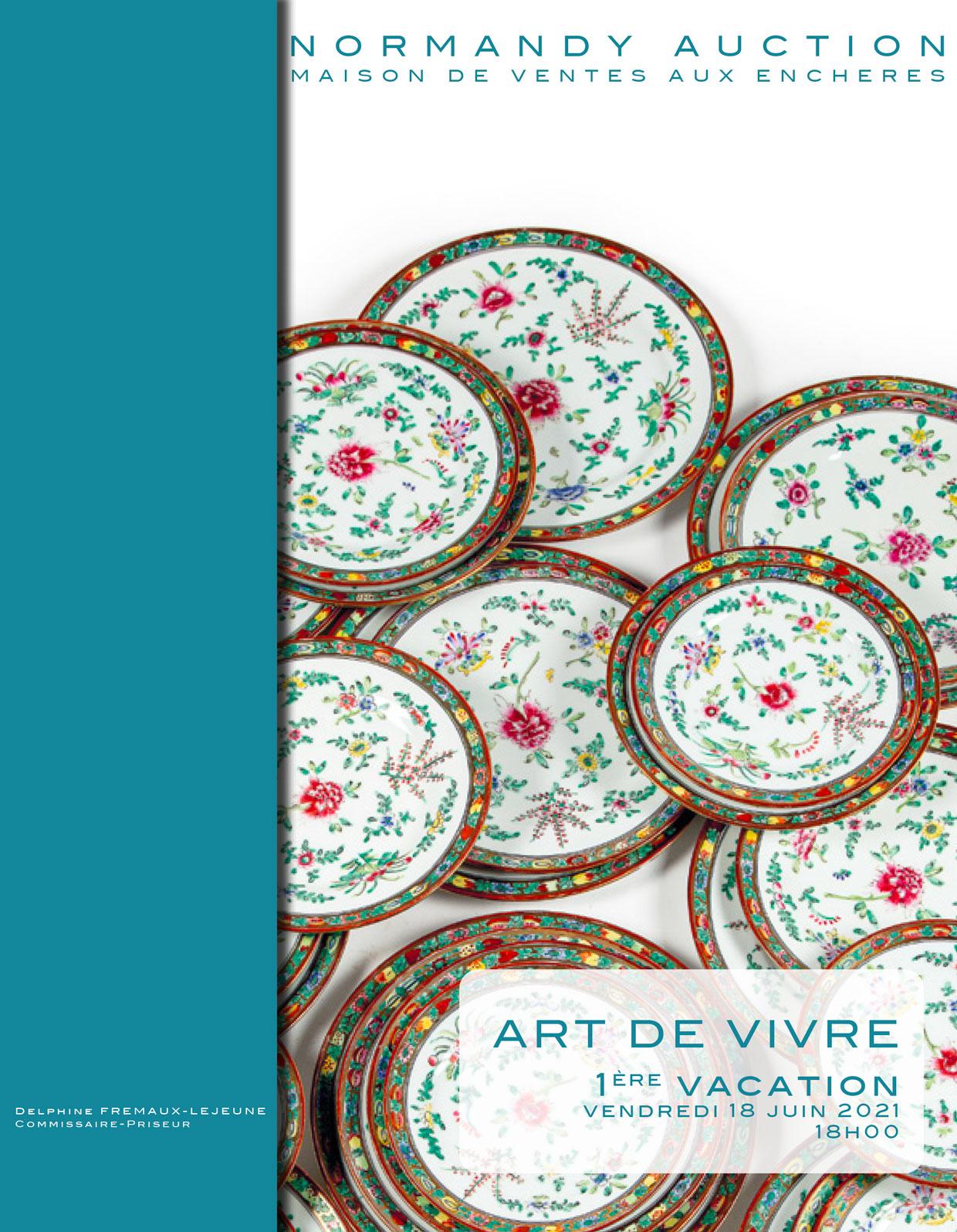 Vente Vente Prestige Juin 2021 - Arts de vivre chez Normandy Auction : 226 lots