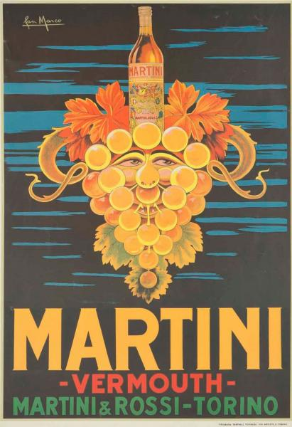 San Marco, MARTINI VERMOUTH / MARTINI & ROSSI TORINO  - About 1960, second edition. A [...]