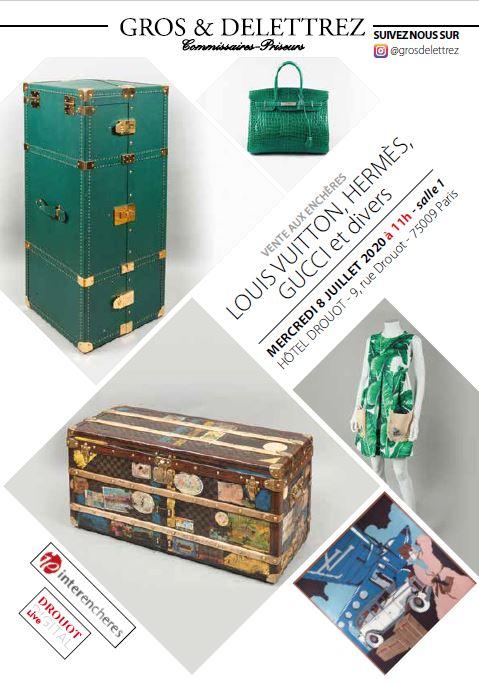 Vente Louis Vuitton, Hermès et divers chez Gros - Delettrez : 631 lots