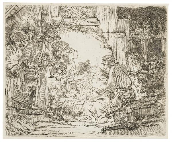 Rembrandt van Rijn (1606-1669) The Adoration of the Shepherds: With the lamp