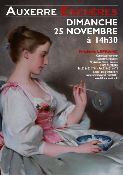 d1baa89a376 Catalogue de la vente Belle Vente Mobilière à Auxerre Enchères - Fin de la  vente le 25 Novembre 2018