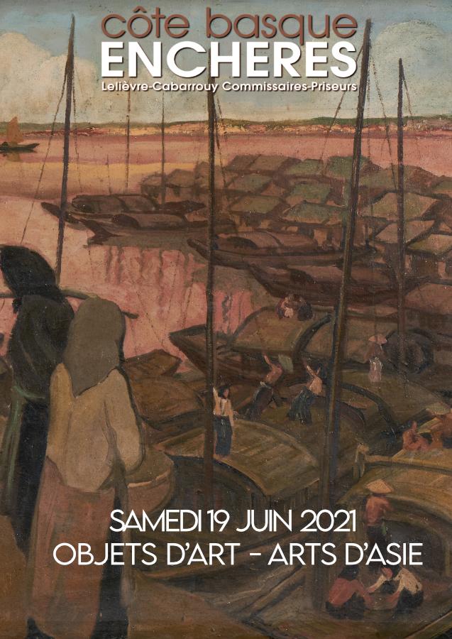 Vente Objets d'Art, Arts d'Asie chez Côte Basque Enchères : 331 lots