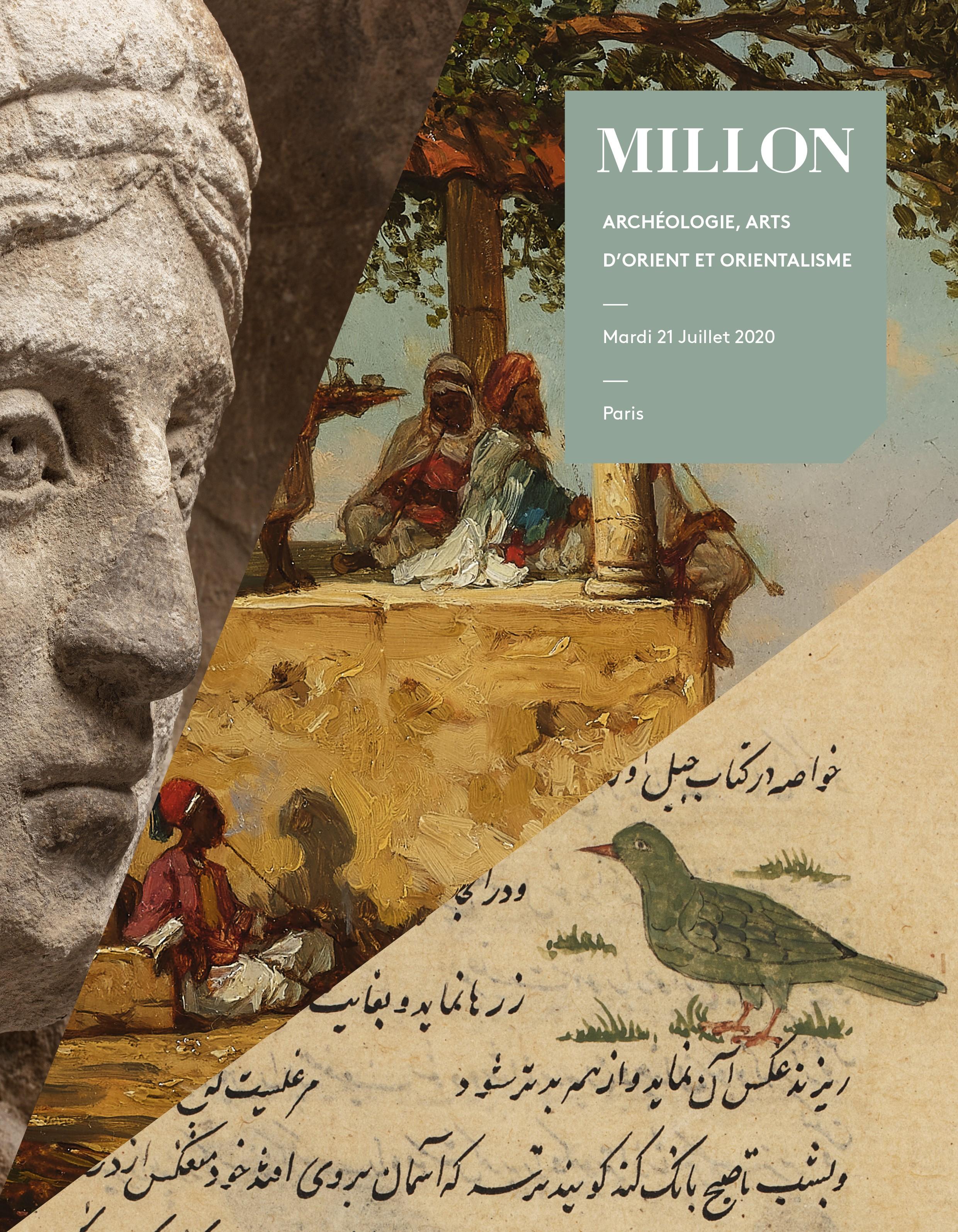 Vente Art de l'islam, Art ancien, Peintures orientalistes et peintures du 19-20e siècle chez Millon et Associés Paris : 493 lots