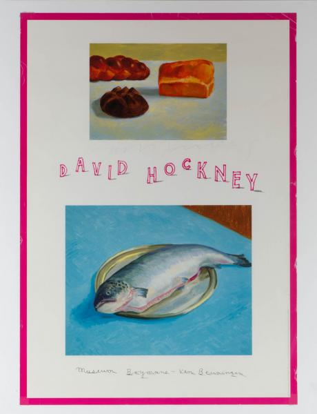 David Hockney (1937) - exhibition poster 'Paintings and photographs of paintings' [...]