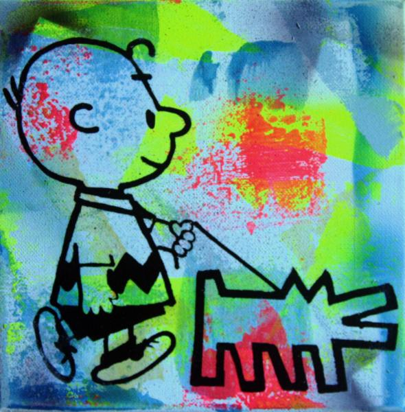 PyB charlie Brown et dog haring street art