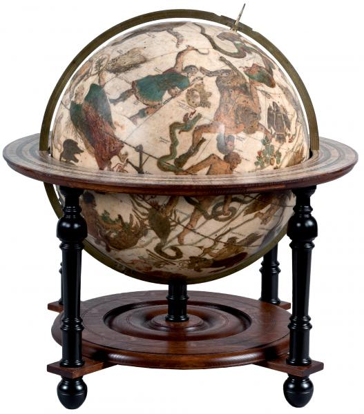 (Globes) - HONDIUS, Jodocus the Younger A large pair of library globes, terrestrial [...]