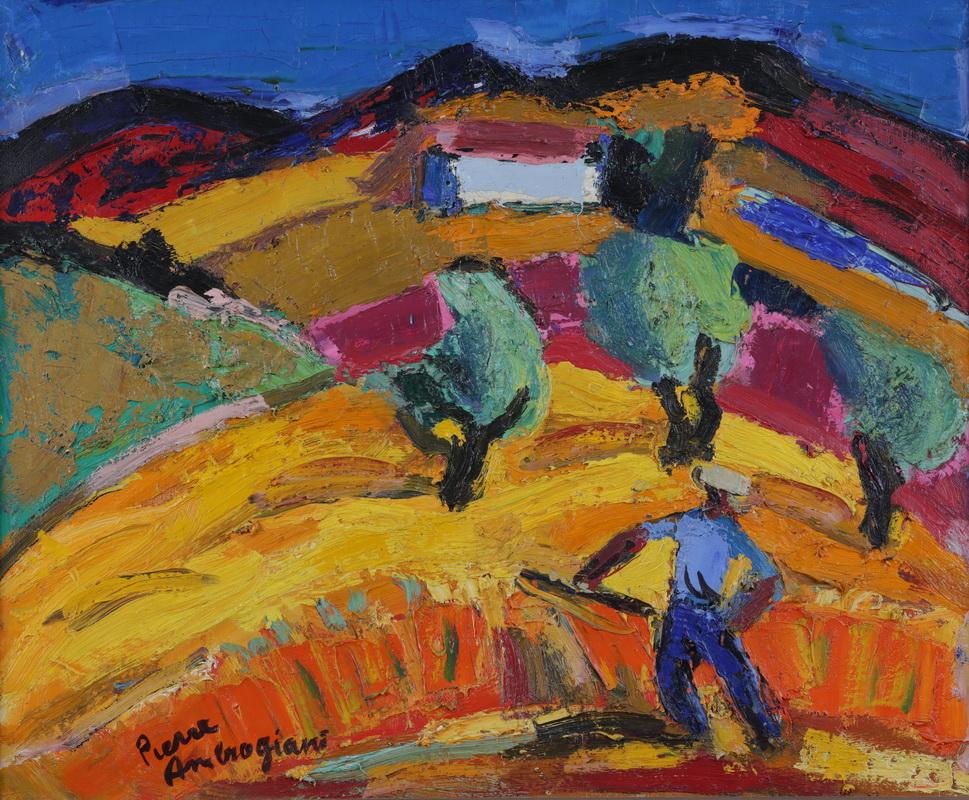 Pierre AMBROGIANI (1907-1985) Le Faucheur Huile sur toile Signée en bas à  gauche [...] | lot 162 | T'ANG Haywen (1927-1991) et XXème Siècle chez Azur  Enchères Cannes - Pichon - Noudel-Deniau | Auction.fr