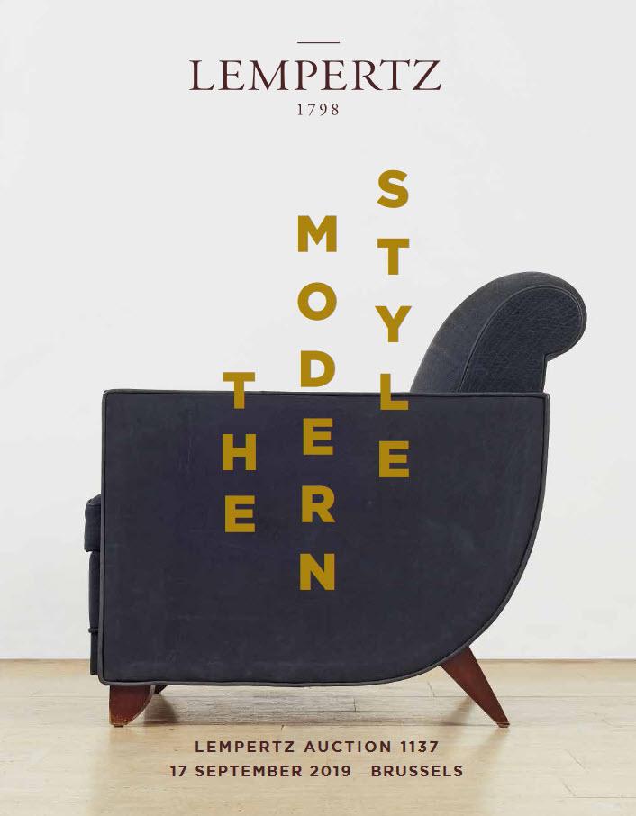 Vente The Modern Style - auction chez Kunsthaus Lempertz : 133 lots