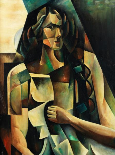 Auguste Herbin,   - 1882 Quievy – 1960 Paris - PORTRAIT OF MADAME HERBIN, 1912   - [...]