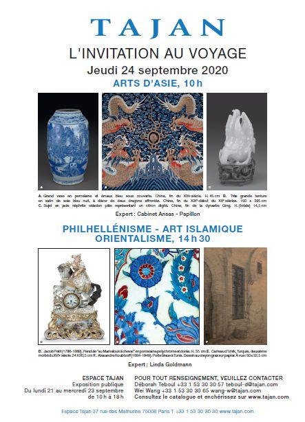 Auction L'Invitation au Voyage : Orientalisme - Art Islamique - Philhellénisme at Tajan : 222 lots