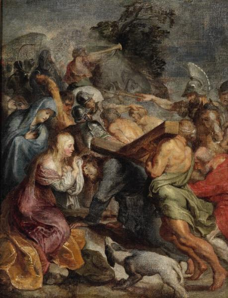 P. P. Rubens, school of, 17th century: Via Dolorosa. The carrying of the cross. [...]