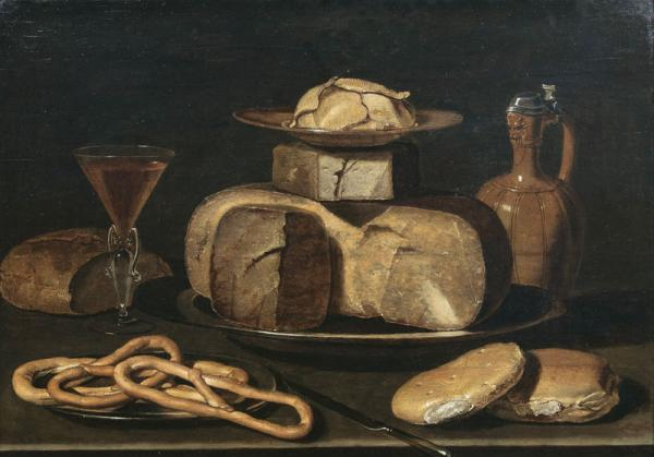 Clara Peeters  - (Antwerpen um 1589 - um 1655)  - Still Life with Cheese, Jar, [...]