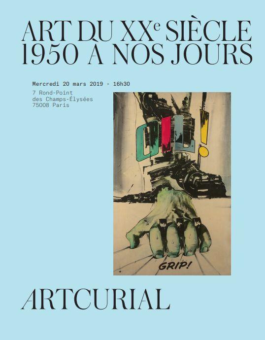 Vente Art du XXe siècle  1950 à nos Jours chez Artcurial : 227 lots