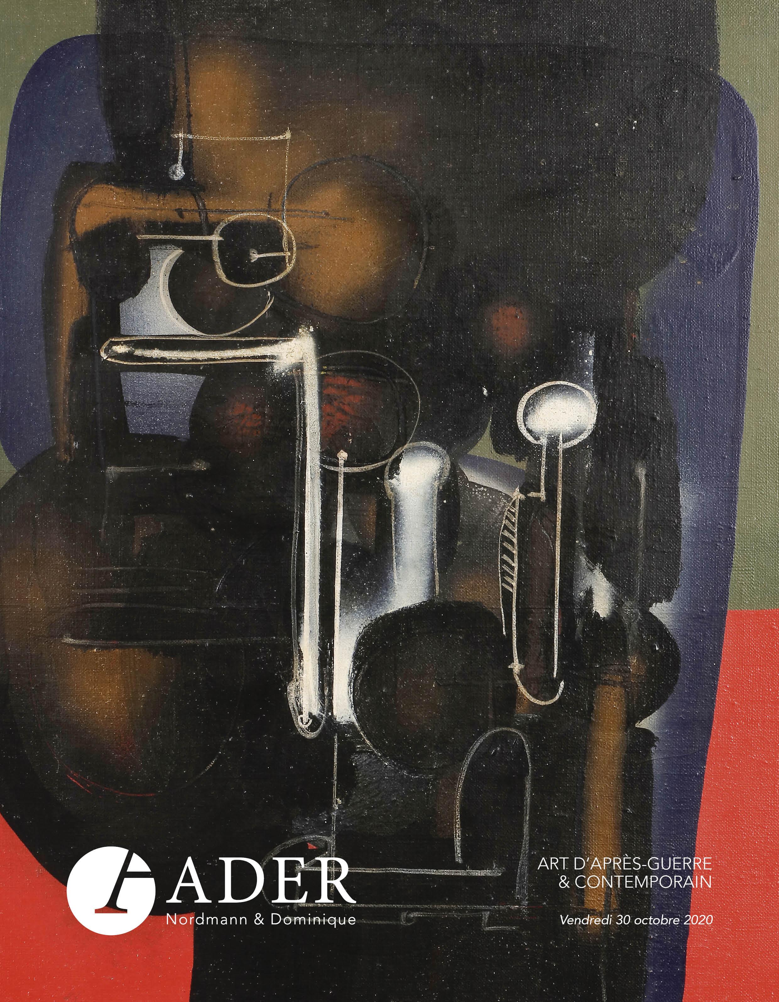 Vente Art d'Après-Guerre et Contemporain chez Ader : 224 lots