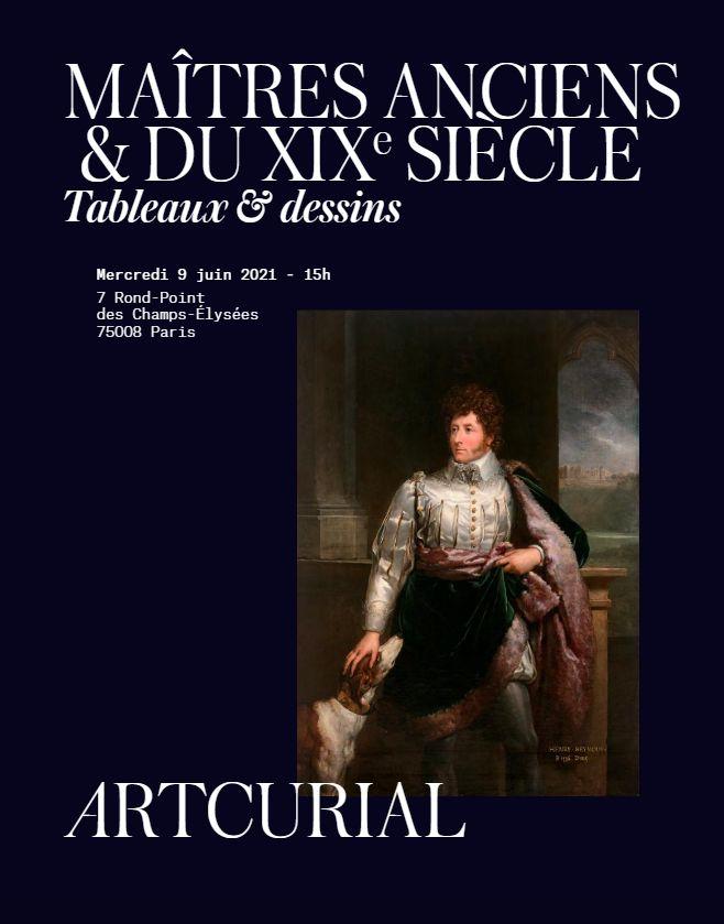 Vente Maîtres Anciens et du XIXème siècle chez Artcurial : 235 lots
