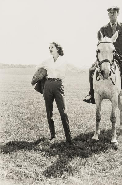 NO RESERVE Norman Parkinson (1913-1990) The Queen's Trainer on Horse and Wife; The Duchess