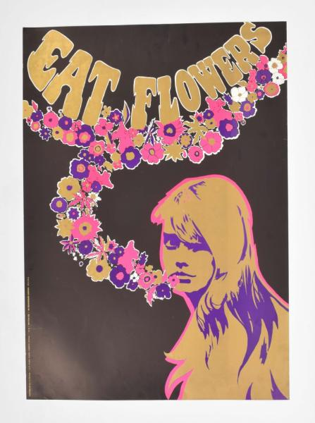 [Counterculture/ political] [Psychedelia/ Flower Power] Eat Flowers - Poster Ronald [...]