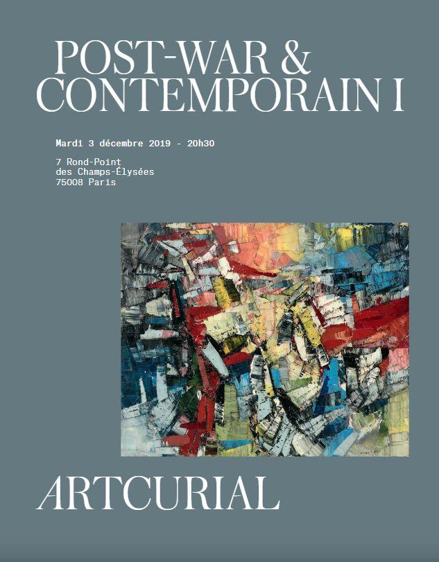 Vente Post-War  & Contemporain I chez Artcurial : 43 lots