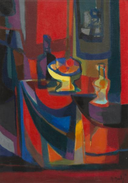 Marcel Mouly (1918-2008), La table rouge.