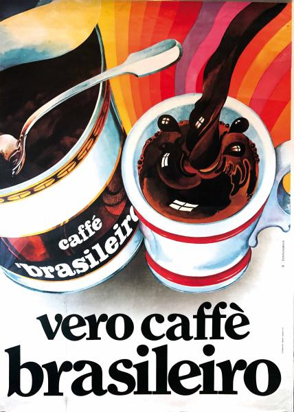 B COMMUNICATIONS, REAL BRASILEIRO COFFEE - First edition offset poster, 1978.  - Cm [...]