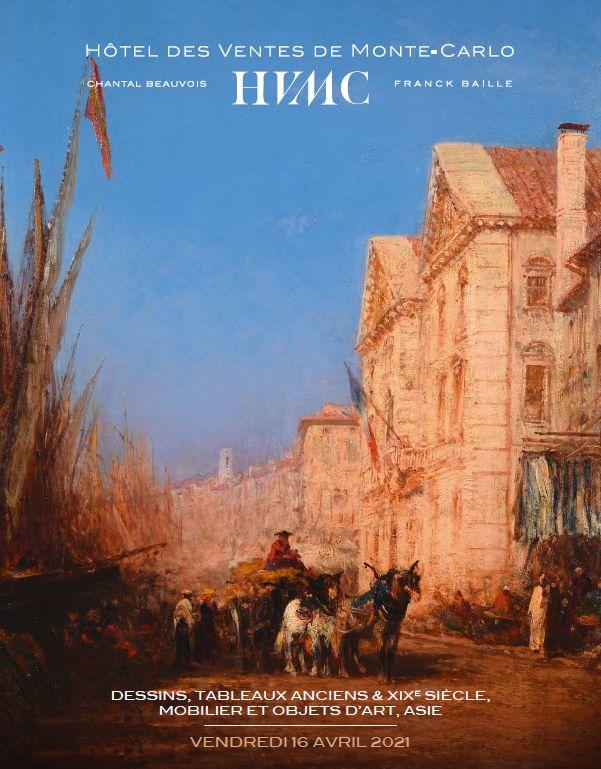 Vente Dessins, Tableaux Anciens et XIXème, Mobilier, Objets d'Art, Asie chez Hôtel des Ventes de Monte-Carlo : 280 lots