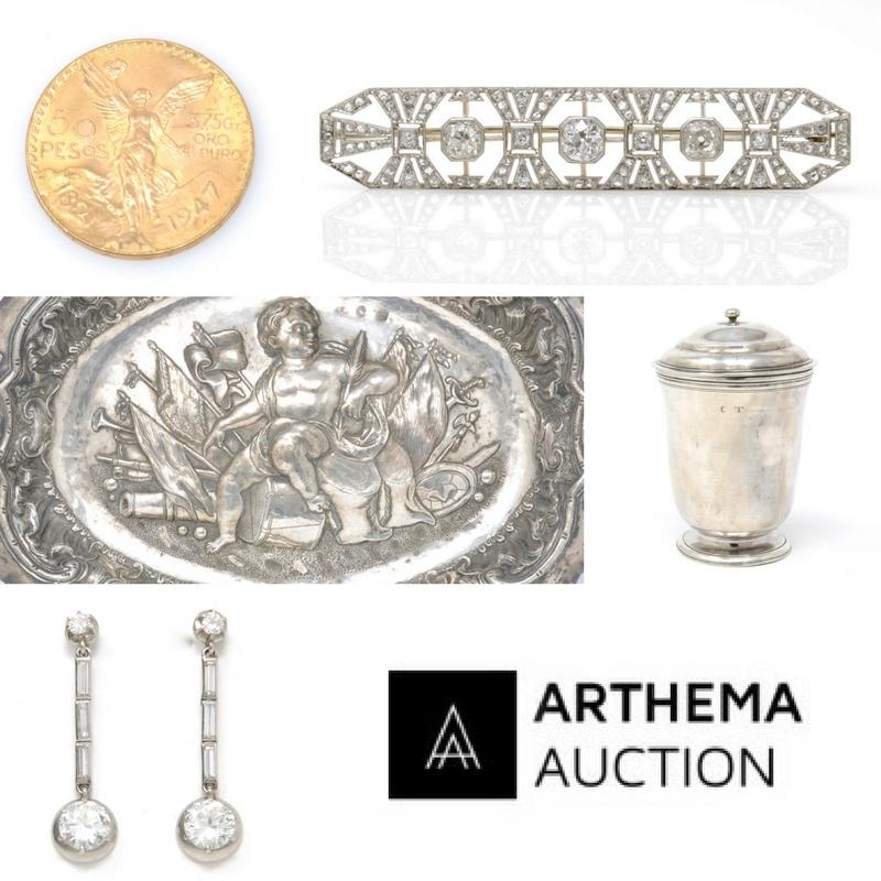 Vente Or, Bijoux et Argenterie chez Arthema Auction : 99 lots